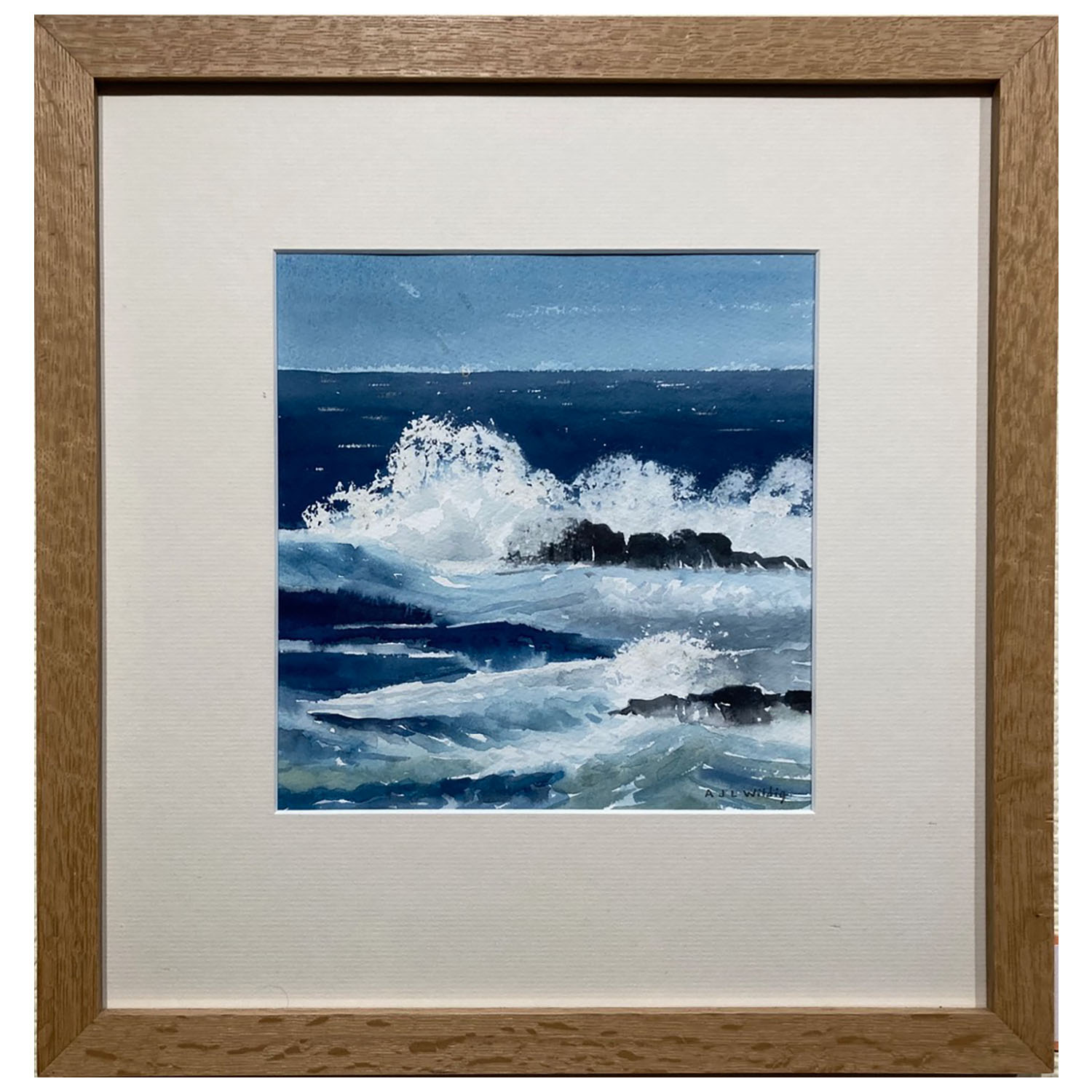 Anthony Wildig, Sennen Cove Cornwall, Watercolour, 394x380mm, £120, Framed