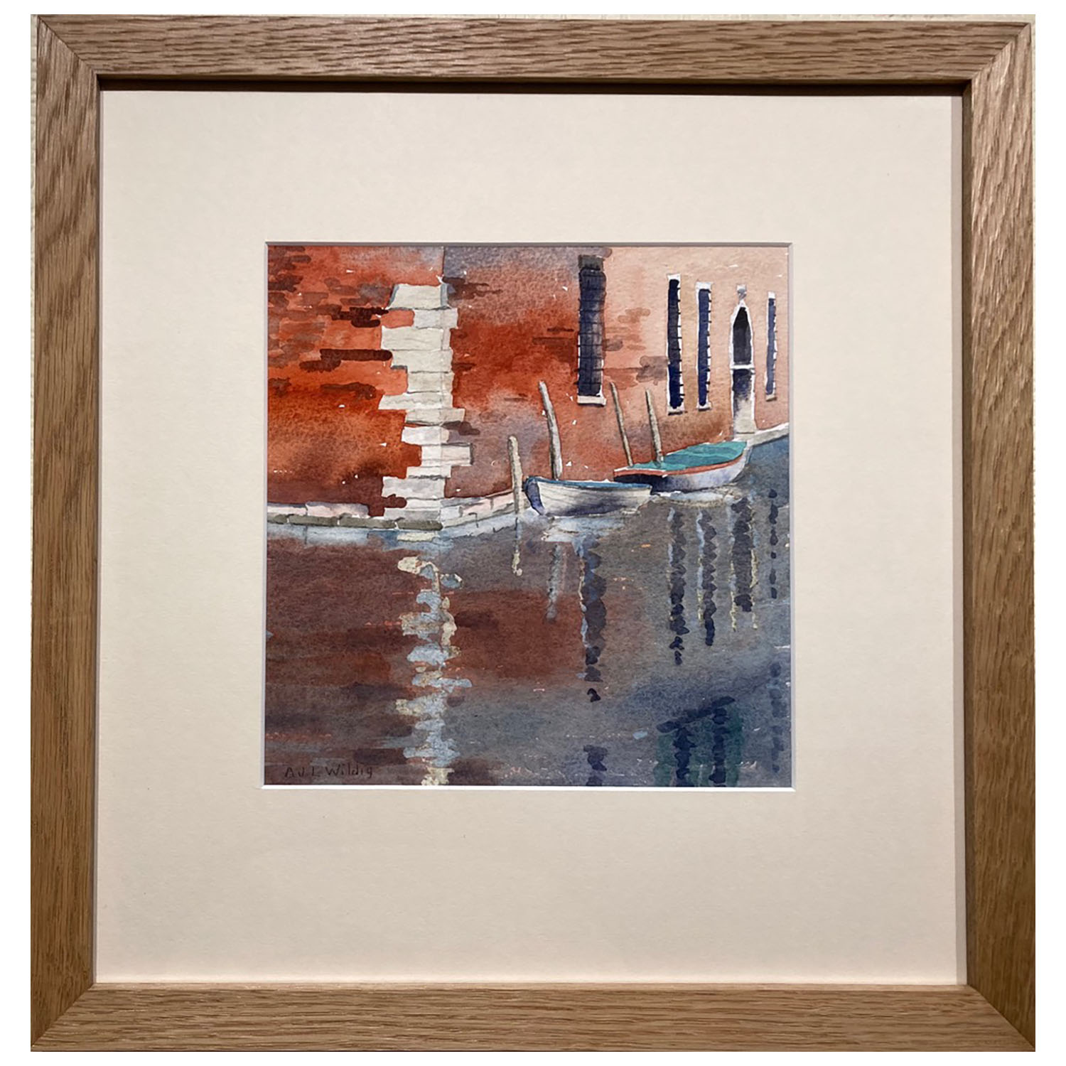 Anthony Wildig, Venice Backwater, Watercolour, 394x380mm, £120, Framed