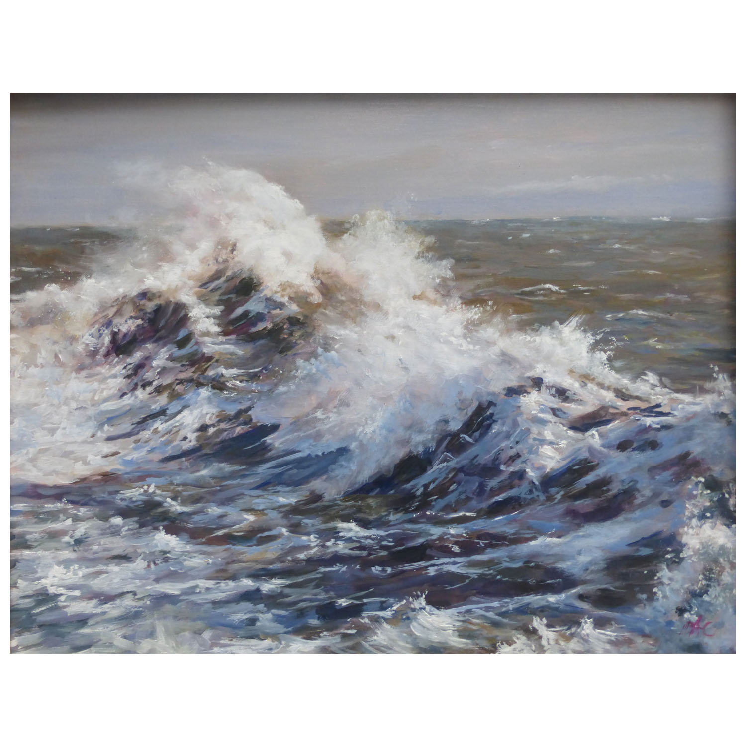 Brian A Collins ARSMA, The Power in a Wave, Oil, 350mmx450mm, £495
