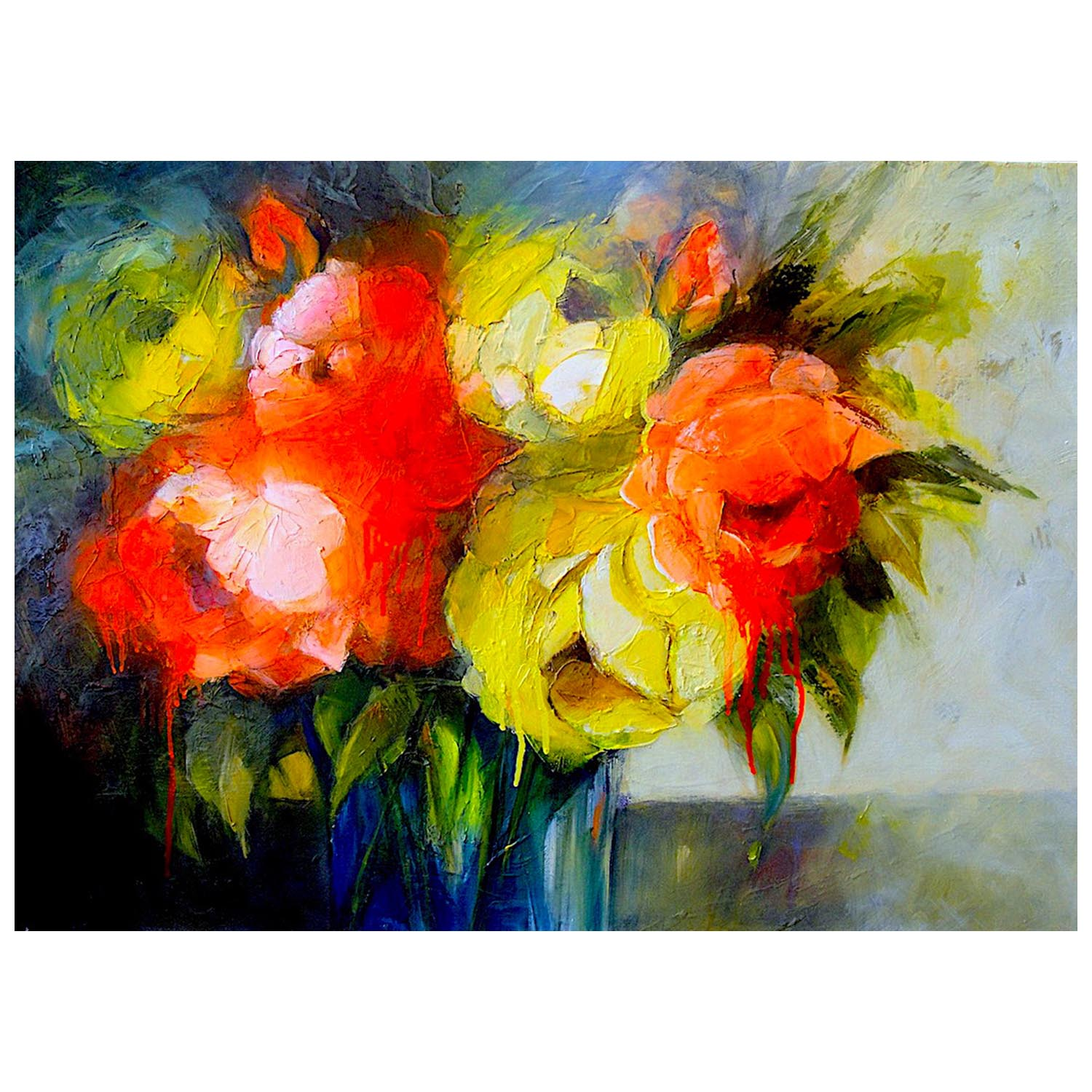 Brian Cowan, Dazzling Peonies Oil on canvas, 500x700mm £1850