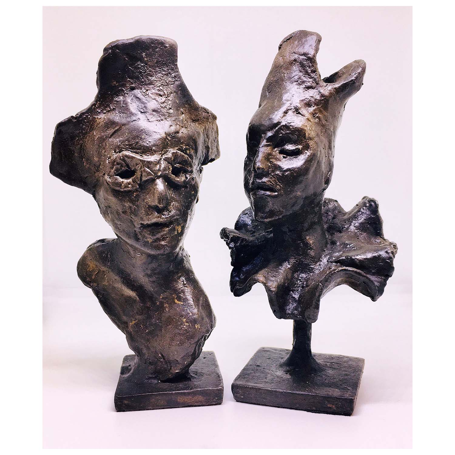 Chery lGould Harlequin 120x60x30mm and Columbine 120x60x60mm Bronze Cold Cast £120 Each