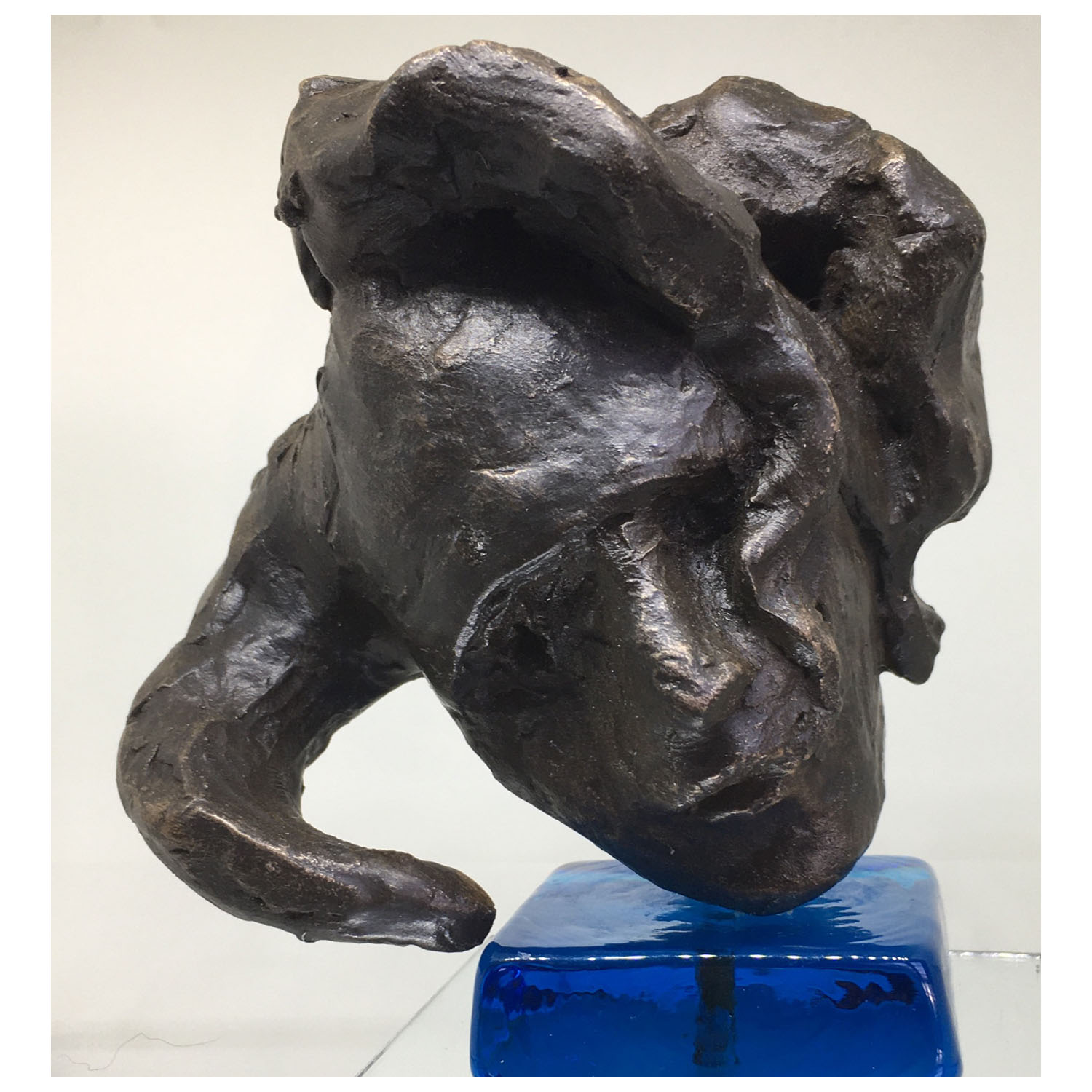 Cheryl Gould, Just Jester Cold cast bronze and glass, 110 x100x70mm £185