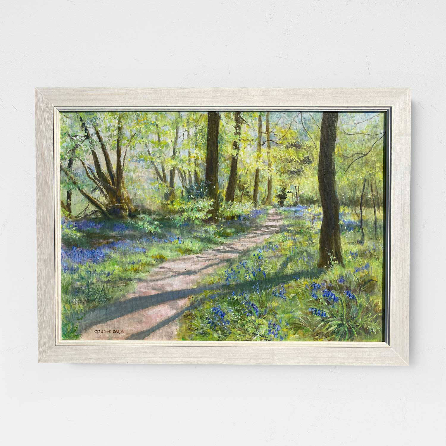 Christine Spring Springtime in Wendover Woods Acrylic 7870x580mm £575
