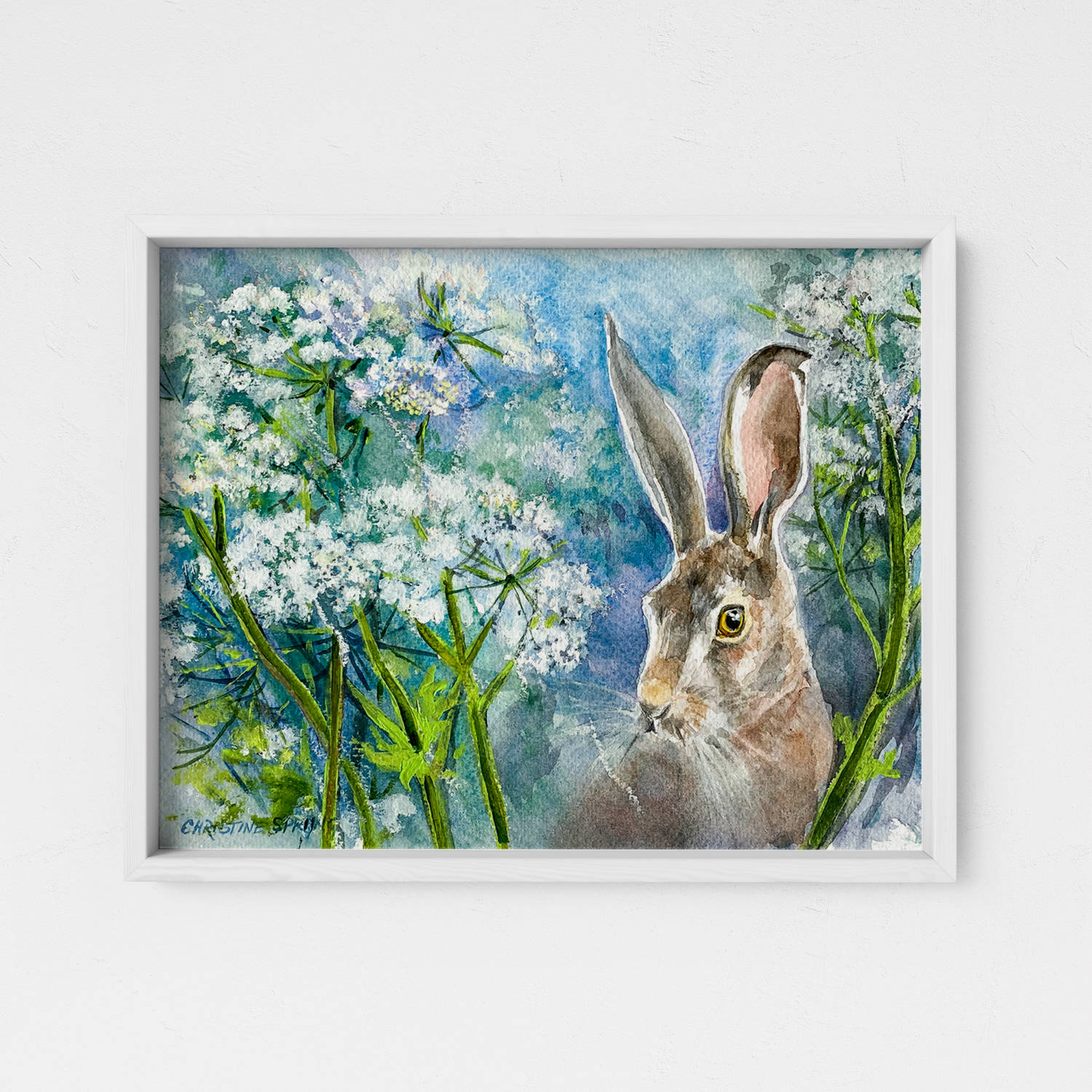 Christine Spring March Hare Mixed Media 280x195mm £145