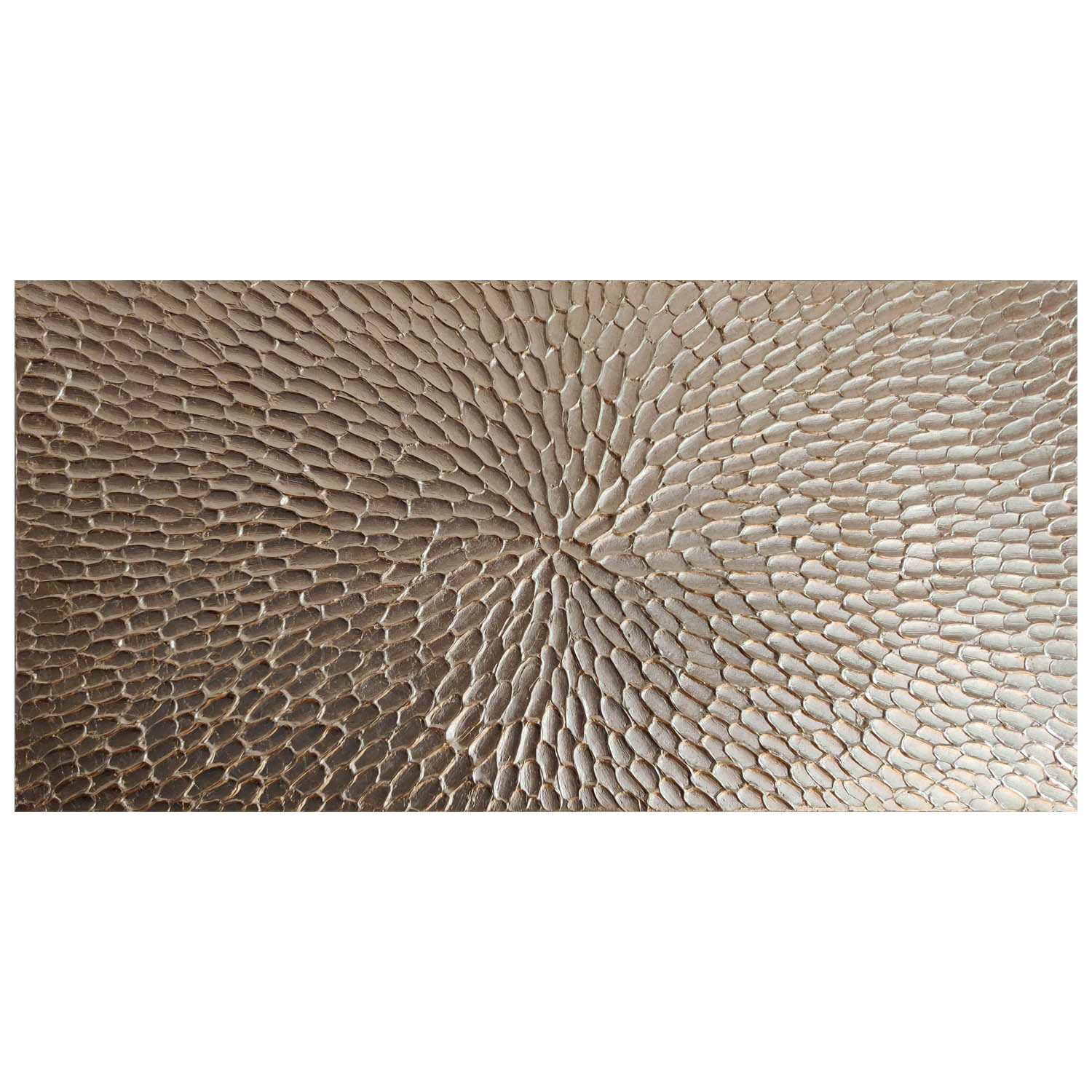 Palak Patel, Gold Feathers<br> Heavy Structure Gel and Gold Leaf, 1000mmx500mm, £275<br>