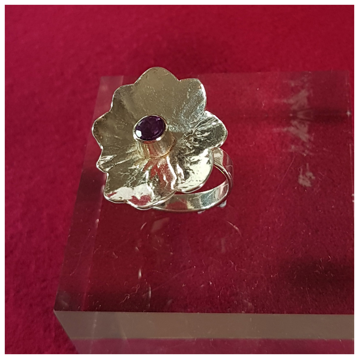 Rashmi Murray, Ring, Sterling Silver with Amethyst, Size M, 28x20mm, £90