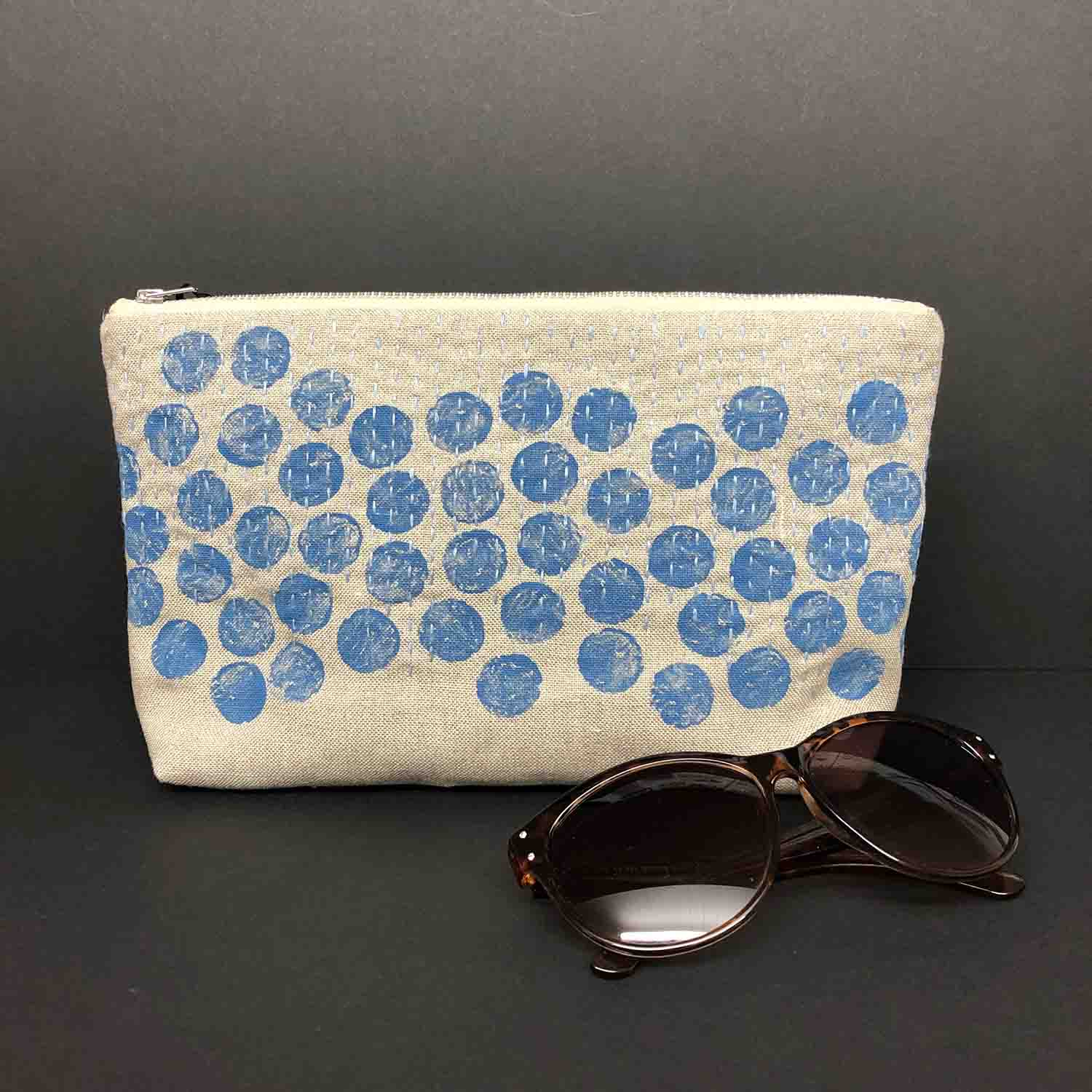 Denim Spots Clutch by Colette Moscrop