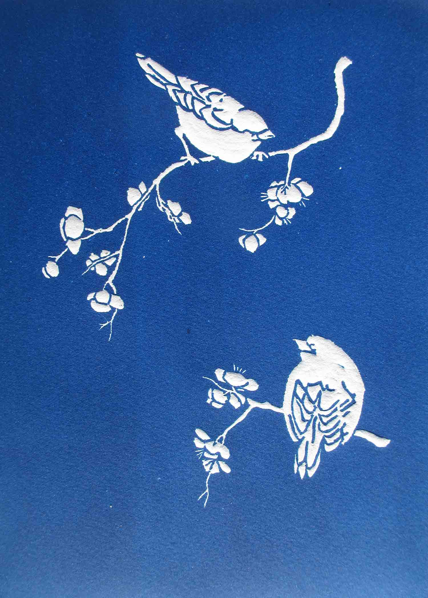 Birds and Blossom by Judith Simmons