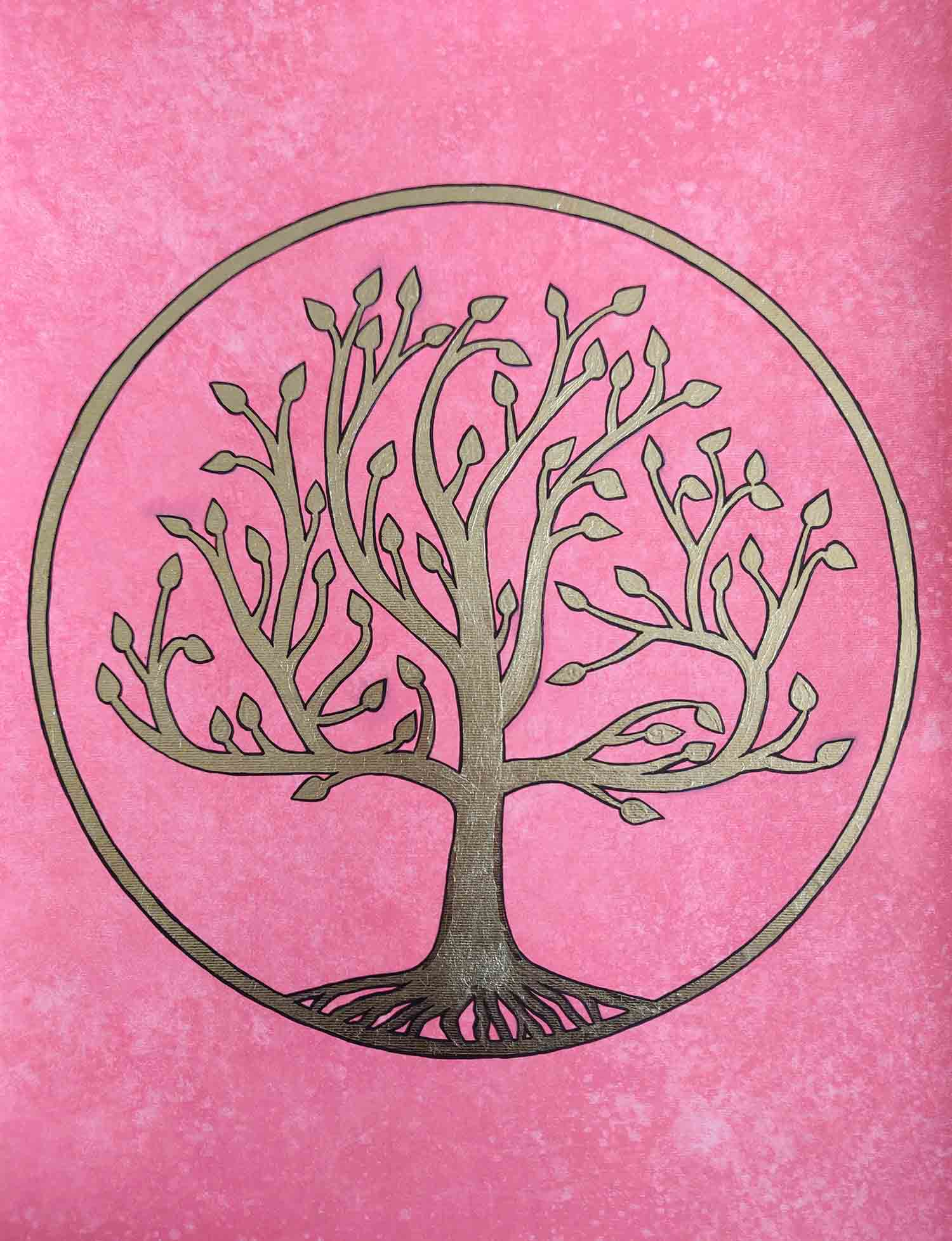 Pink Tree Of Life by Palak Patel